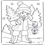 Invierno - Niña con árbol