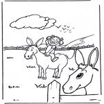 Animales - Niña con burro