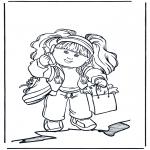 Dibujos Infantiles - Niña con móvil