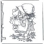 Diversos - Niña con muñeca