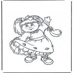 Dibujos Infantiles - Niña con vestido