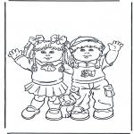 Dibujos Infantiles - Niña y niño