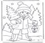 Niño con árbol de Navidad 1