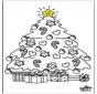 Niño con árbol de Navidad 2