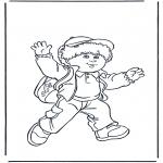Dibujos Infantiles - Niño con mochila