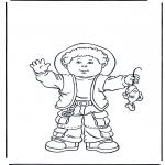 Dibujos Infantiles - Niño con pescado