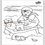 Dibujos Infantiles - Niño en el mar