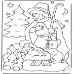 Navidad - Niño en el nacimiento