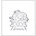 Dibujos Infantiles - Niño en la silla
