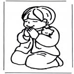 Dibujos de la Biblia - Niño rezando