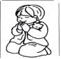 Niño rezando
