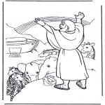 Láminas de la Biblia - Noé y el arcoiris