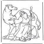 Láminas de la Biblia - Noé y el camello