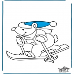 Invierno - Osito Esquiador