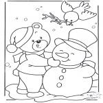 Invierno - Oso en la nieve