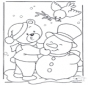 Oso en la nieve
