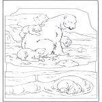 Animales - Oso polar con una cría