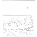 Animales - Oso polar sobre un montículo