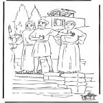 Dibujos de la Biblia - Pablo habla