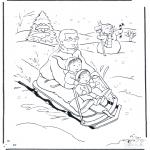 Invierno - Padre con trineo