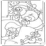 Navidad - Papá Noel cauteloso