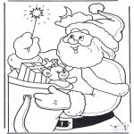 Navidad - Papá Noel con barita mágica