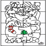 Navidad - Papá Noel Puzzle