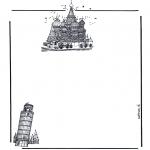 Manualidades - Papel de cartas con edificios