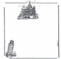 Papel de cartas con edificios