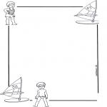 Manualidades - Papel de cartas con niño