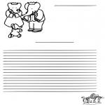 Manualidades - Papel de cartas de Babar