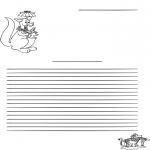 Manualidades - Papel de cartas de canguro