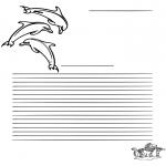 Manualidades - Papel de cartas de delfín