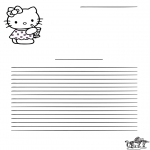 Manualidades - Papel de cartas - Hello Kitty