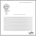 Manualidades - Papel de cartas - señorita