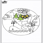 Dibujos de la Biblia - Paraíso 1