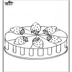 Diversos - Pastel de fresas