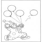 Diversos - Payaso con globos