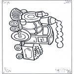 Dibujos Infantiles - Pequeña locomotora