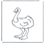 Pequeño avestruz