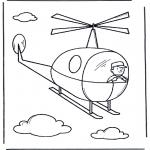 Dibujos Infantiles - Pequeño helicóptero