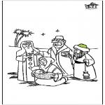 Dibujos de la Biblia - Pesebre 4
