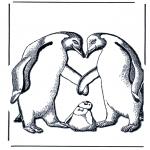 Animales - Pingüinos y cría