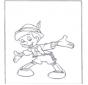 Pinocho de pie