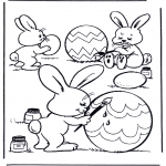 Temas - Pintando huevos