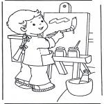 Dibujos Infantiles - Pintar sobre lienzo