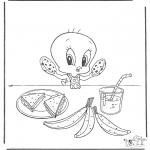 Personajes - Piolín comiendo