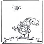 Dibujos Infantiles - Plop después de llover