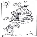 Dibujos Infantiles - Plop en su casa