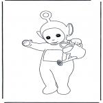 Dibujos Infantiles - Po con la Regadera